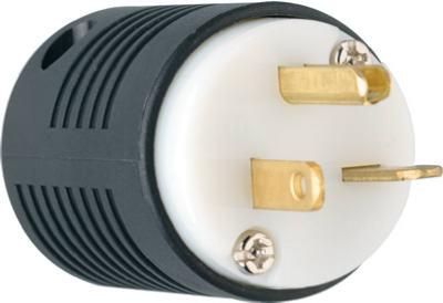 20A 220V MALE PLUG BLACK