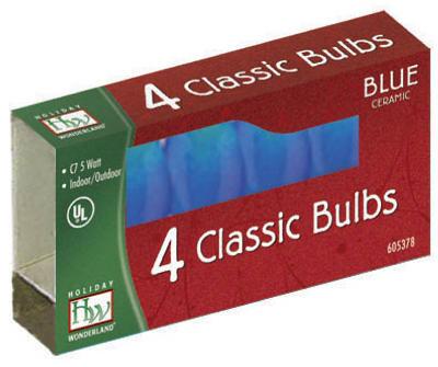 HW 4PK C7 BLU Cera Bulb