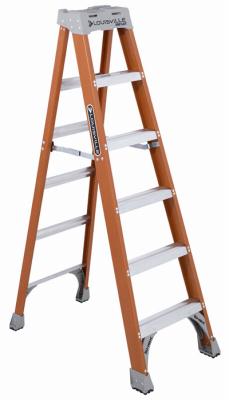Ladder, Step  6' Fiberglass 300#