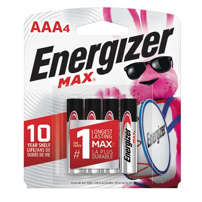MAX 4PK AAA Alkaline Battery