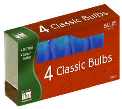 HW 4PK C9 BLU Cera Bulb