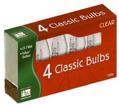 HW 4PK C9 CLR Repl Bulb