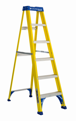 6' Blue HD FBG Step ladder  250#