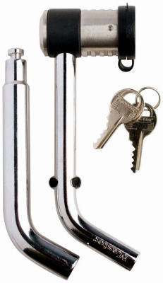 Chrome Plated Steel Bent Receiver Pin, with Swiveling Lock Head