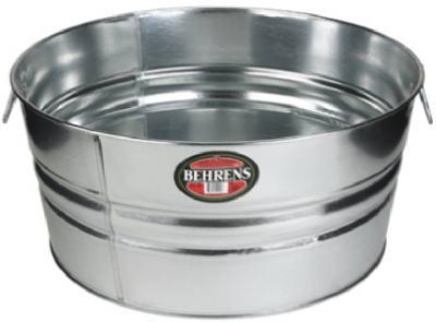 Galvanized Steel Tub, Round, 17 gal.