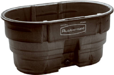 Rubbermaid 100gal Blk Stock Tank