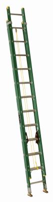 Ladder, Ext 24' Fiberglass Green