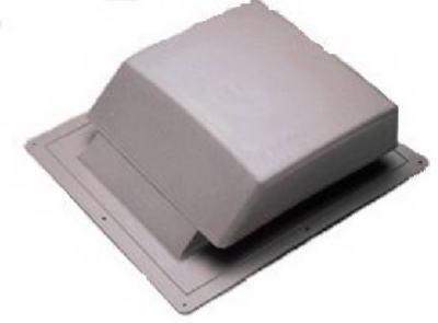 Plastic Slant Roof Vent Black