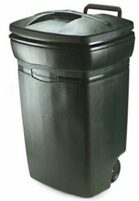 45GAL Green Wheeled Trash Can