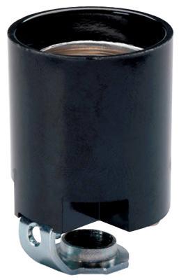 Black Phenolic Lamp Holder