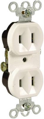 15A White Duplex Outlet