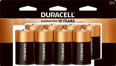 Duracell 8PK D Alkaline Battery