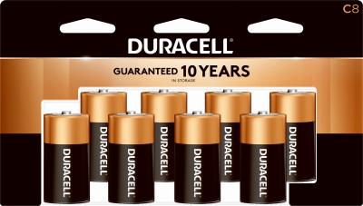 Duracell 8PK C Alkaline Battery