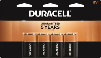Duracell 4PK 9V Alkaline Battery