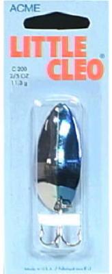 2/5-OZ Nickel/Neon Blue Spoon