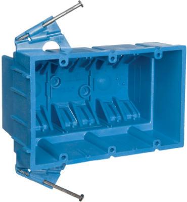 3 Gang New Work Super Blue Box