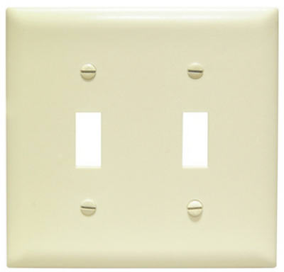 Ivory 2 Gang Switch Wall Plate