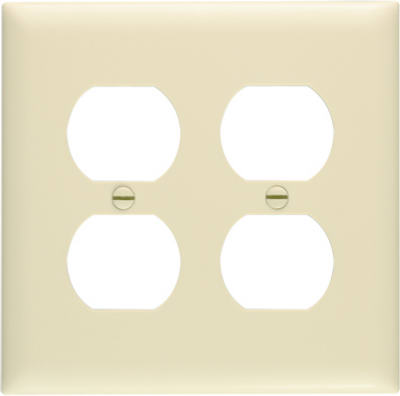 Ivory 2 Gang 2 Duplex Wall Plate