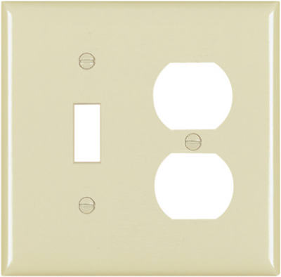 Ivory 2 Gang Toggle Duplex Plate