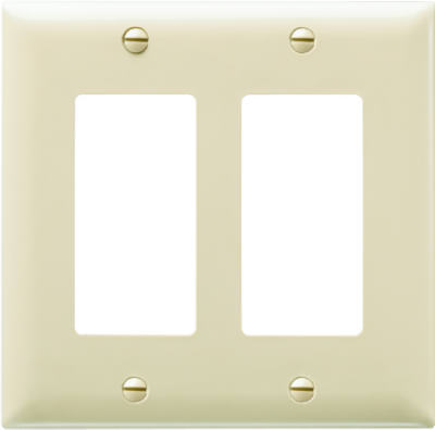 Ivory 2G Decorator Wall Plate
