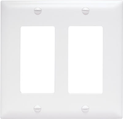 White 2G Decorator Wall Plate