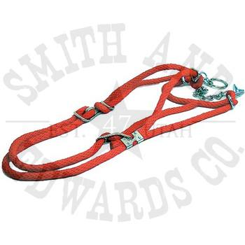 Cow Rope Halter with Chain