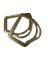 Bork Saddlery Brass EZ Rigging Plate