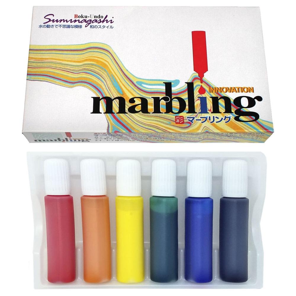 Marbling Boku-undo 6-Color Set