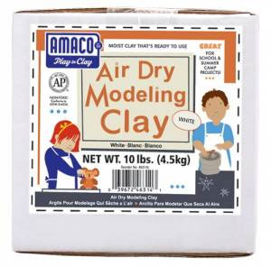 Amaco Air Dry Modeling Clay 10 Lbs. Pack - White