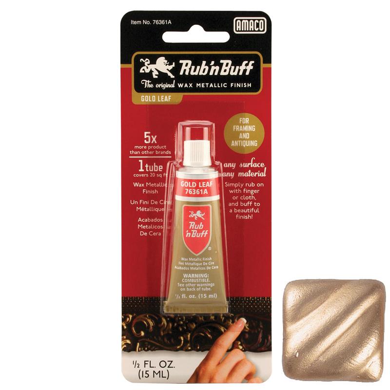 Rub 'n Buff Metallic Finish 1/2 oz. - Gold Leaf
