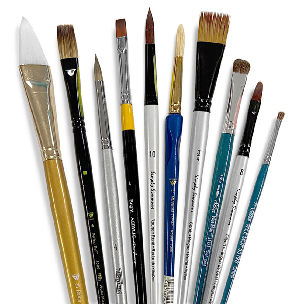 Artist Brushes 10 Pack Assorted
