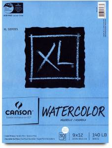"Canson Watercolor Pad XL - 9"" x 12"""