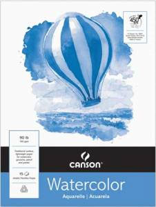 """Canson 1130 Lightweight Watercolor Pad 15"""" x 20"""""""