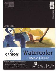 "Montval 140lbs Cold Press Watercolor Pad 9"" x 12"""