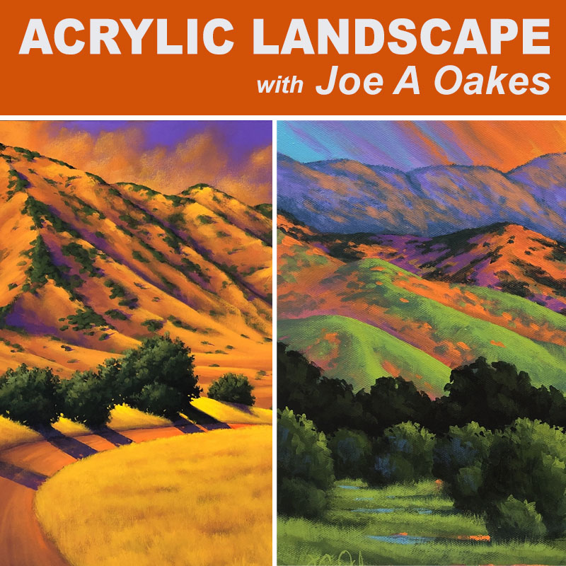 In the Studio: Acrylic Landscapes with Joe A Oakes