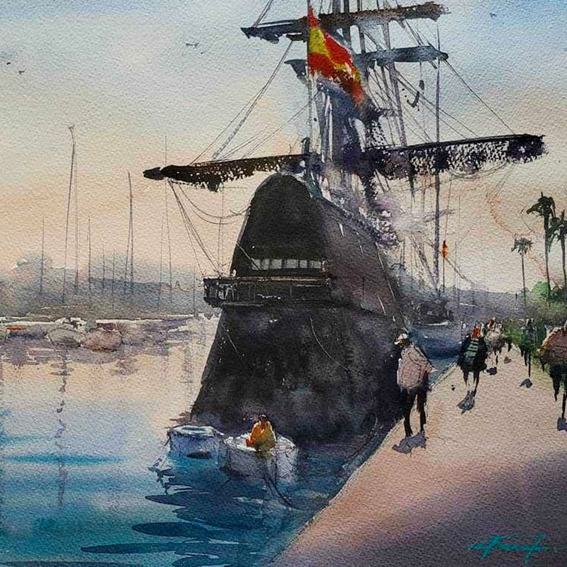 In the Studio: California Landscape in Watercolor with Keiko Tanabe