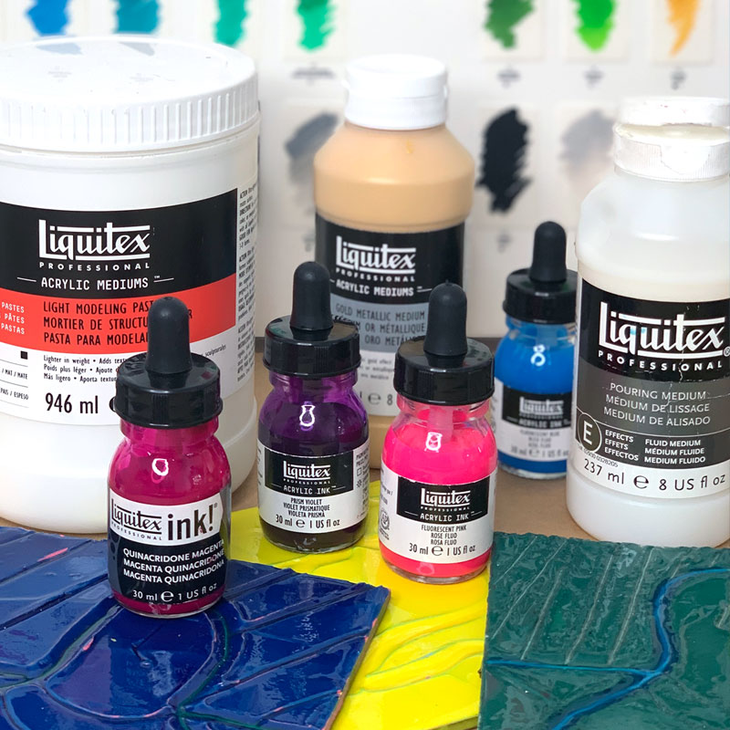 In the Studio: Scratch and Pour with Liquitex 10/9