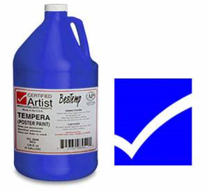 Bestemp Liquid Tempera (Poster Paint) 1-Gallon - Blue