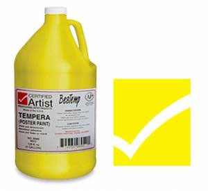 Bestemp Liquid Tempera (Poster Paint) 1-Gallon - Yellow
