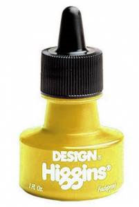 Higgins Fadeproof Pigmented Ink 1 oz. - Yellow