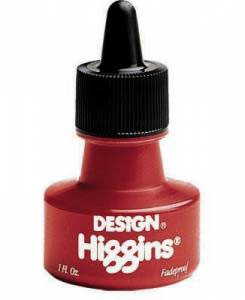 Higgins Fadeproof Pigmented Ink 1 oz. - Red