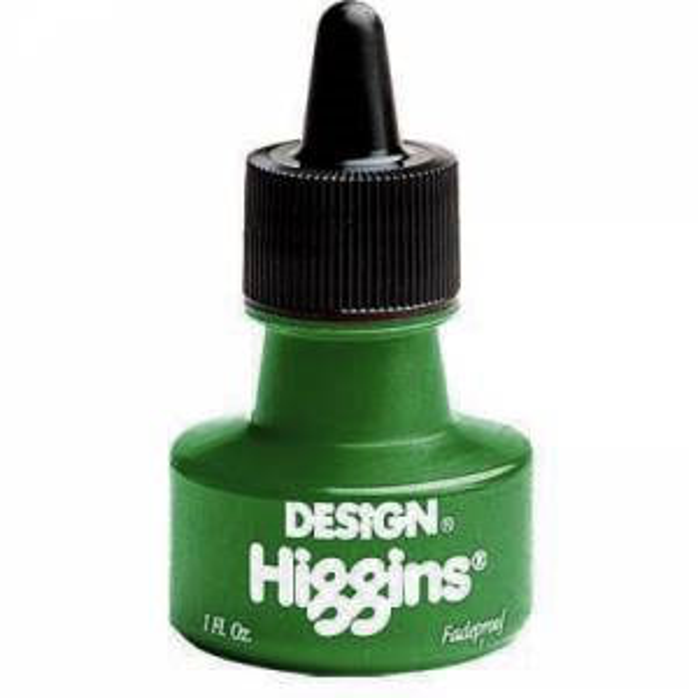 Higgins Fadeproof Pigmented Ink 1 oz. - Green