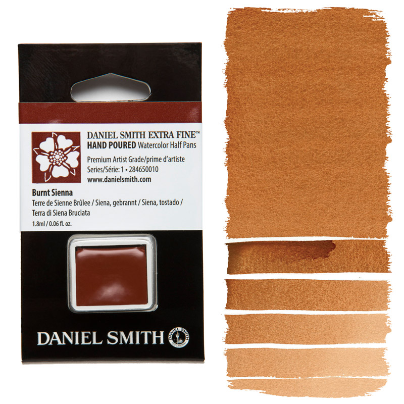 Daniel Smith Watercolor Half Pan - Burnt Sienna