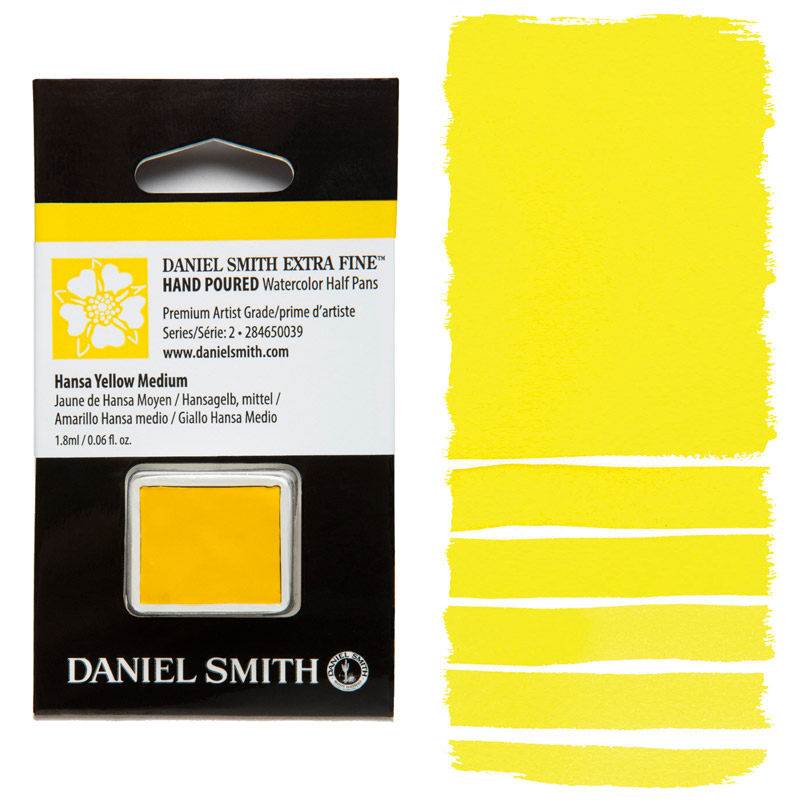 Daniel Smith Watercolor Half Pan - Hansa Yellow Medium