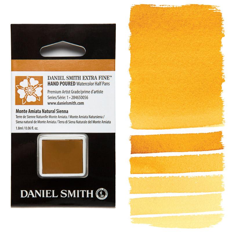 Daniel Smith Watercolor Half Pan - Monte Amiata Natural Sienna