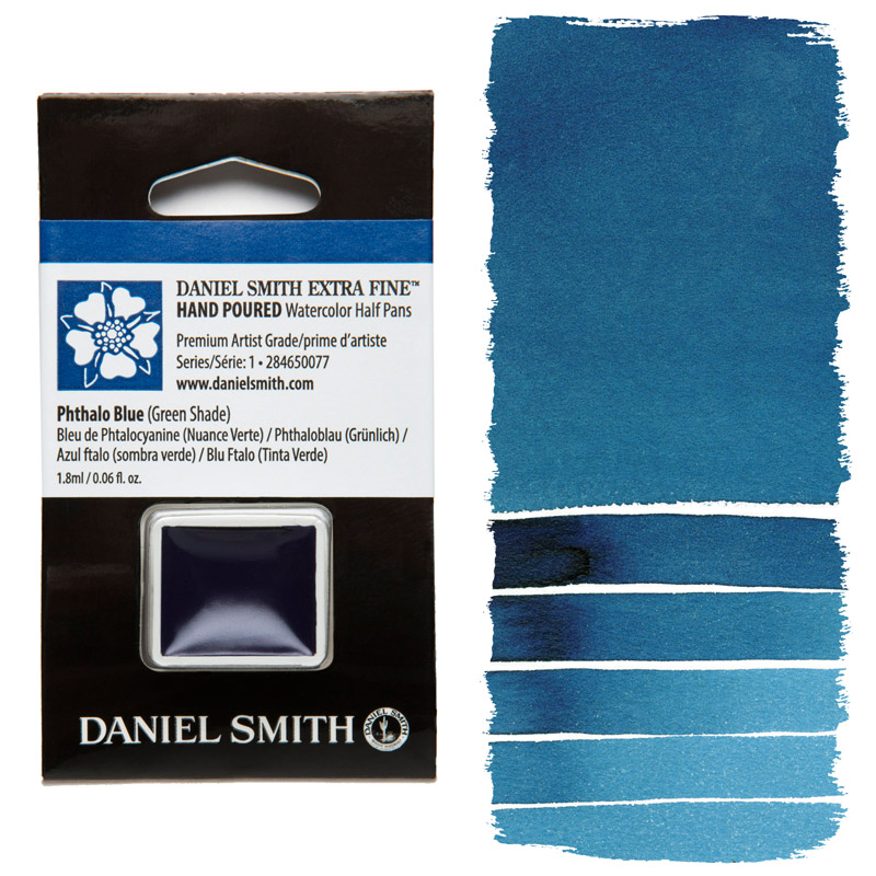 Daniel Smith Watercolor Half Pan - Phthalo Blue (Green Shade)
