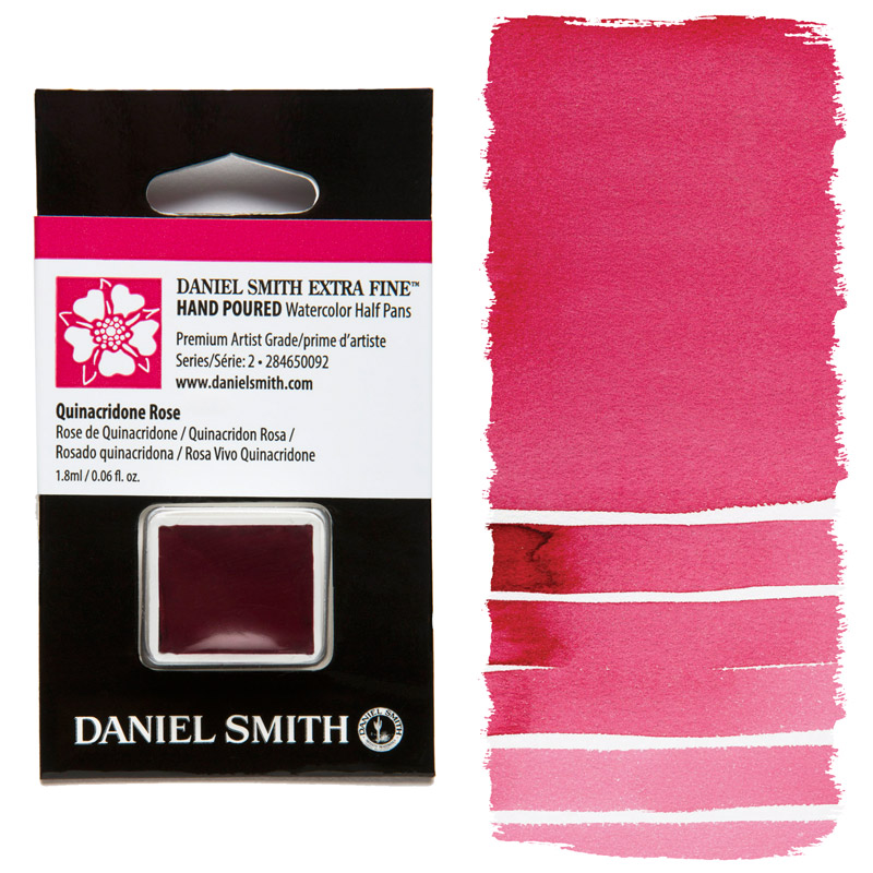 Daniel Smith Watercolor Half Pan - Quinacridone Rose