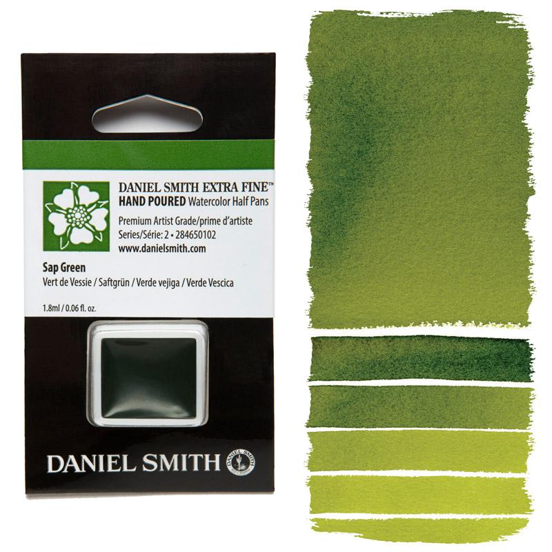 Daniel Smith Watercolor Half Pan - Sap Green