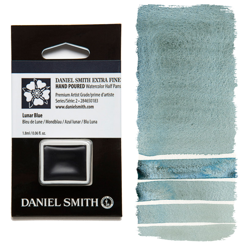 Daniel Smith Watercolor Half Pan - Lunar Blue