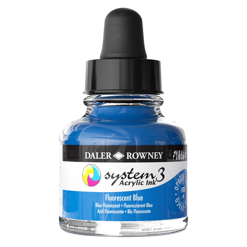 System 3 Ink 29.5ml Fluorescent Blue